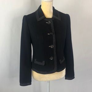 GAP Black Blazer with White Trim